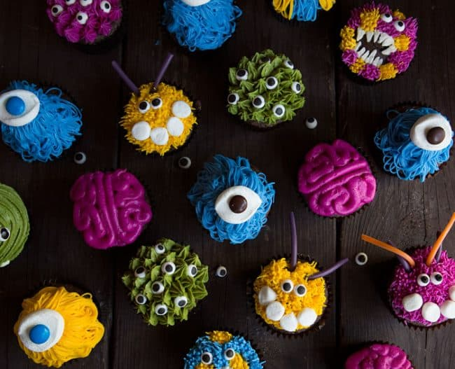 Overhead of Monster Cupcakes