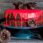 Bloody Good Double Chocolate Halloween Cake