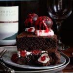 Chocolate Cake with Red Wine Chocolate Covered Cherries