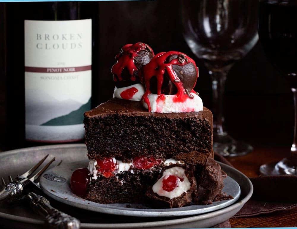 Chocolate Cherry Wine Cake