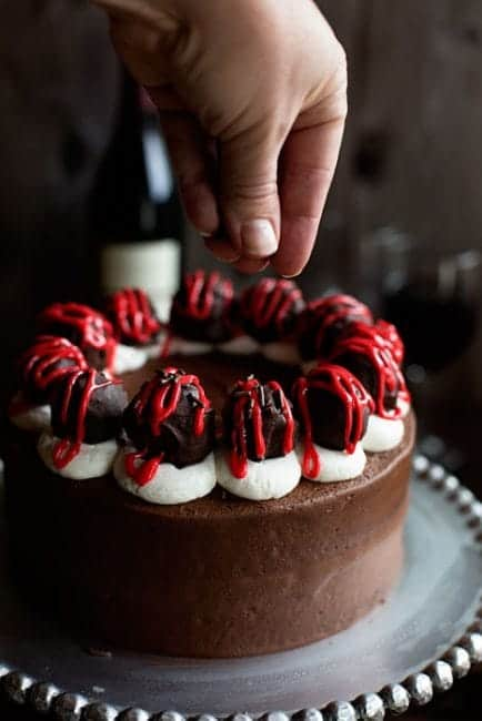 Chocolate Cake with Red Wine Chocolate Covered Cherry Cake