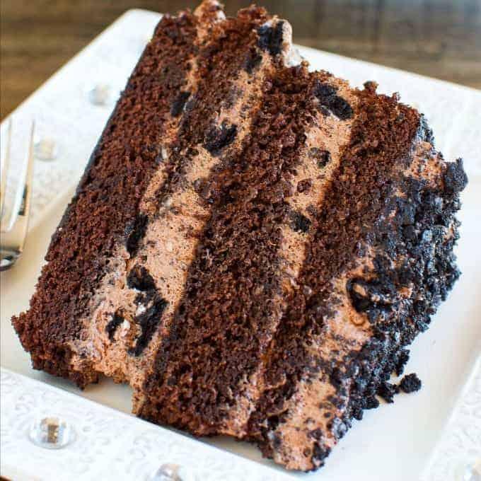 Chocolate Dirt Cake Layer Cake