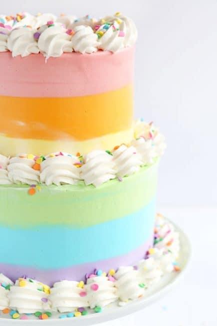Pastel Rainbow Cake I Am Baker