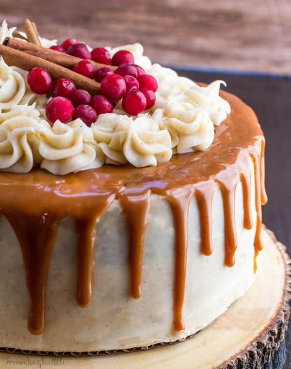 Gingerbread Cake with Cinnamon Cream Cheese Frosting and ...