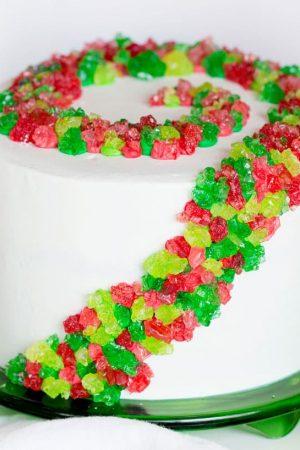 Rock Candy Christmas Cake