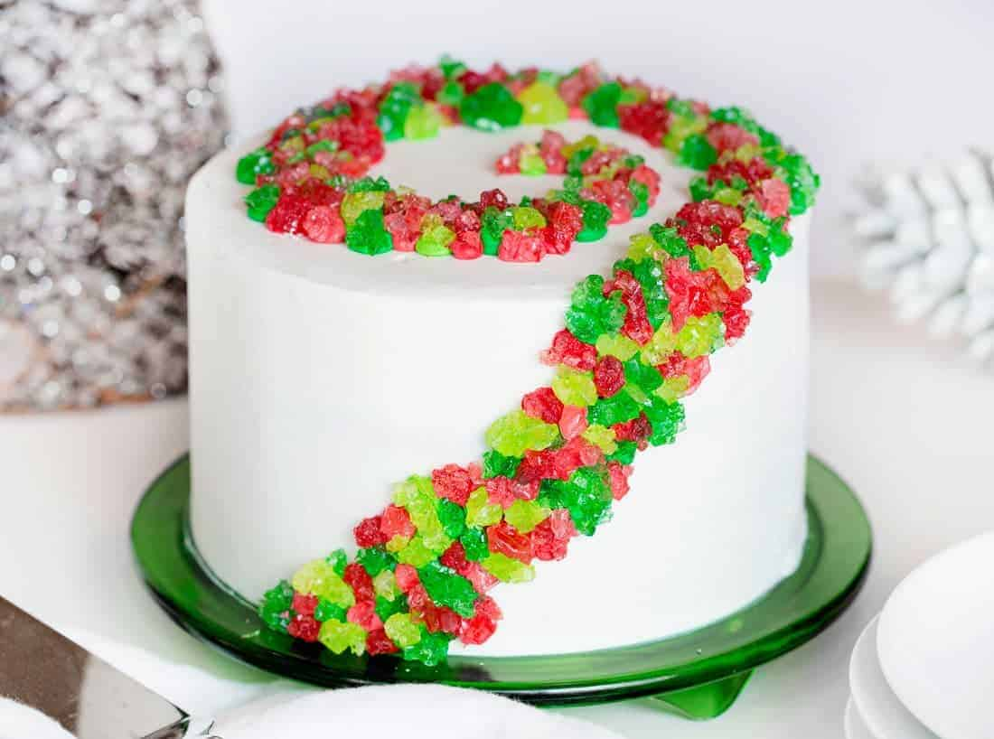 Rock Candy Christmas Cake