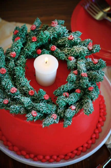 You'll never guess what the wreath is made from!