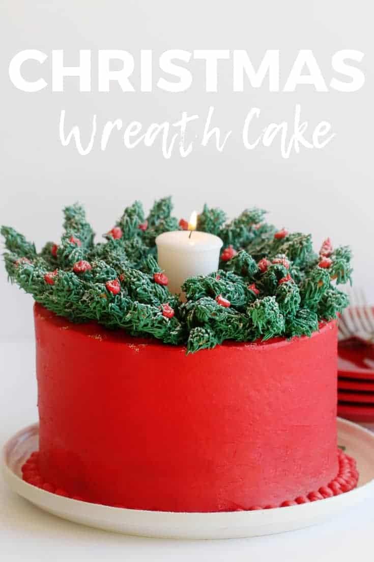 Christmas Wreath Cake I Am Baker