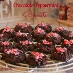 Chocolate Peppermint Biscuits (Cookies)