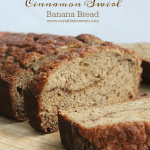 Greek Yogurt Cinnamon Swirl Banana Bread