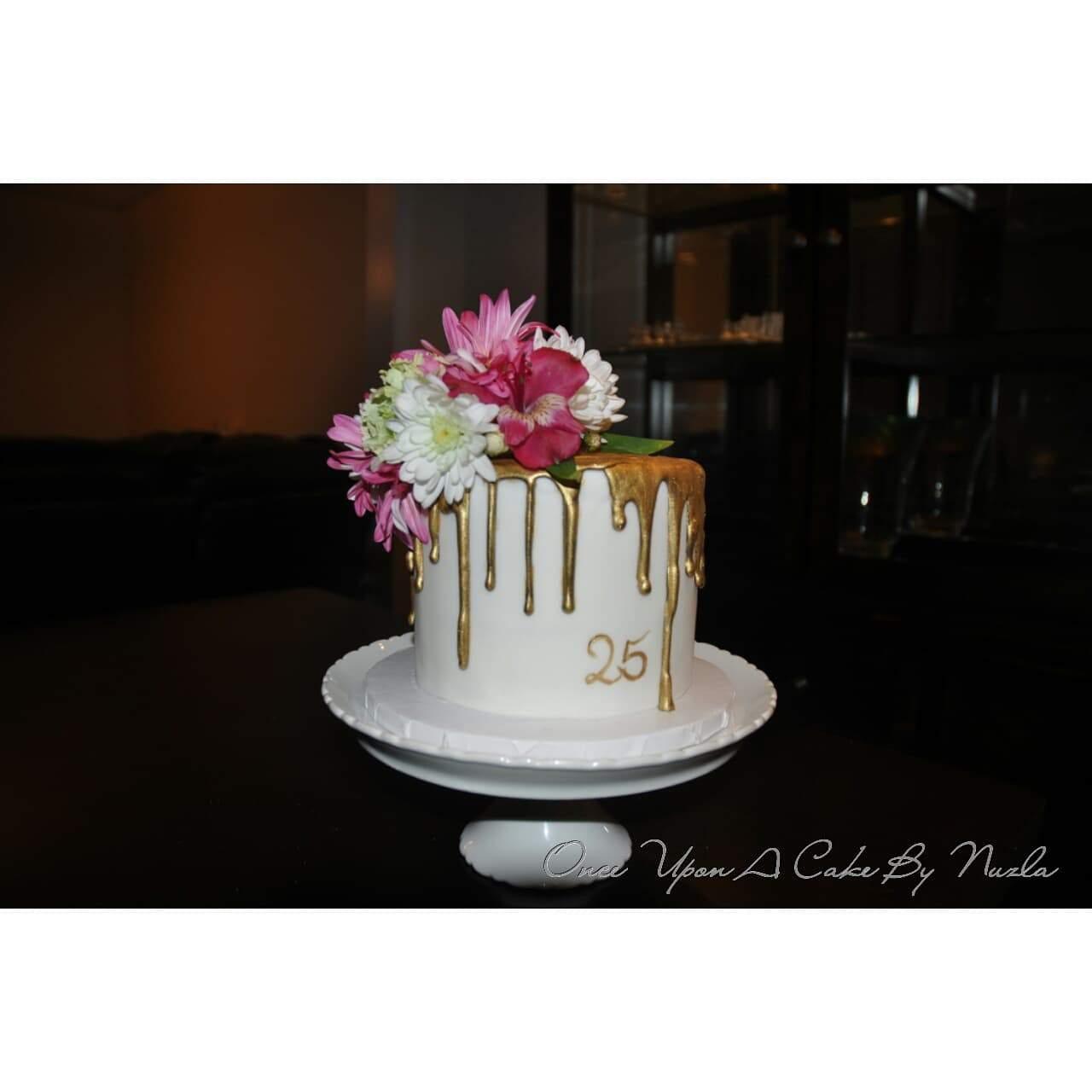 Gold Drip Cake I Am Baker