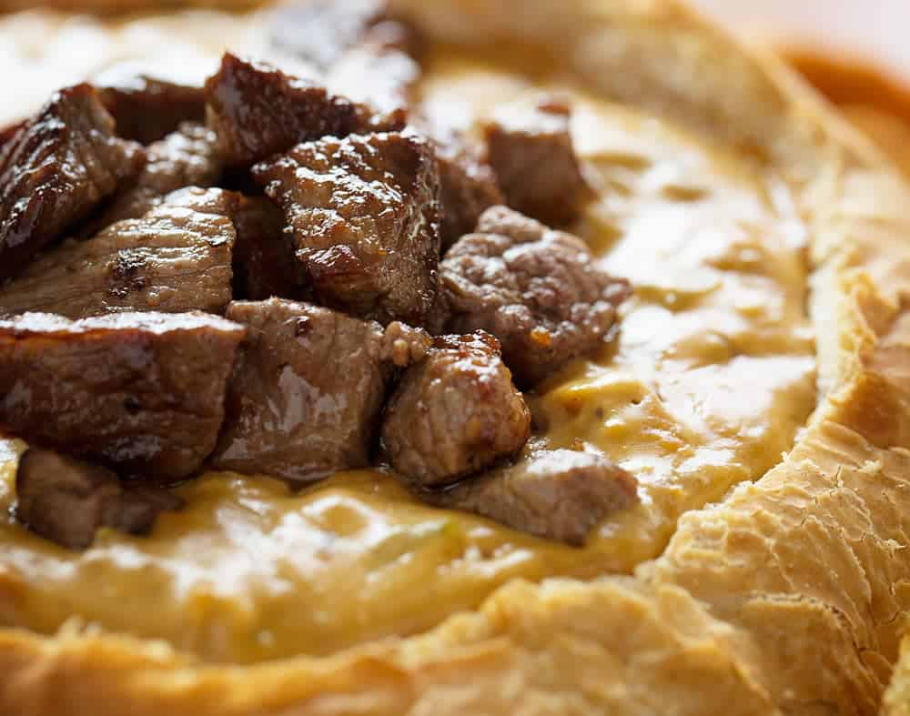 My very own version of a classic Philly Cheesesteak Dip!