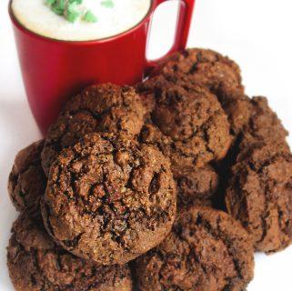 Gianduja hot cocoa cookies
