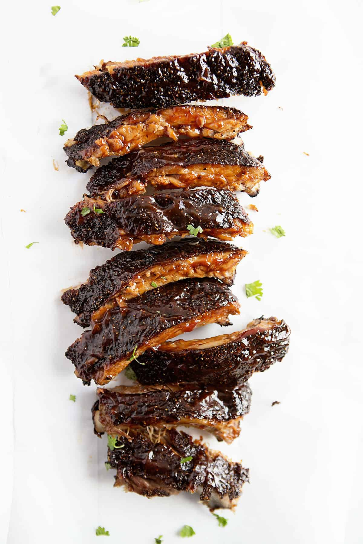 Rack of Perfectly Cooked Ribs