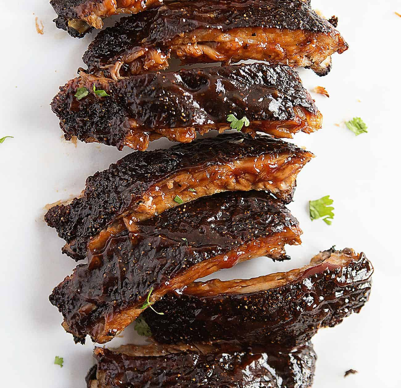 Overhead view of ribs