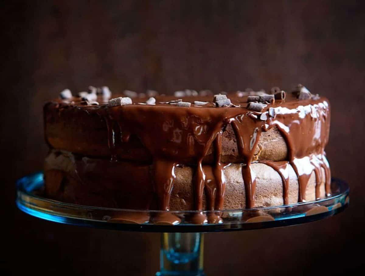 Pleasing Chocolate Espresso Cake I Am Baker Personalised Birthday Cards Cominlily Jamesorg