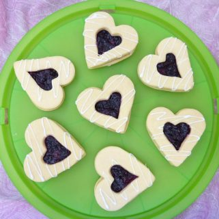 Butter Shortbread Sandwich Cookies with Homemade Berry Jam