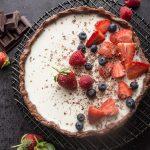 Chocolate Vanilla Berry Panna Cotta Tart
