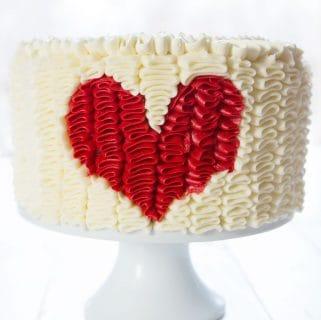 Ruffle Heart Cake