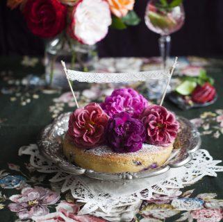 Blueberry & Rose Yoghurt Cake