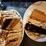 Turtle cheesecake cake