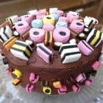 Liquorice Allsorts Celebration Chocolate Fudge Cake