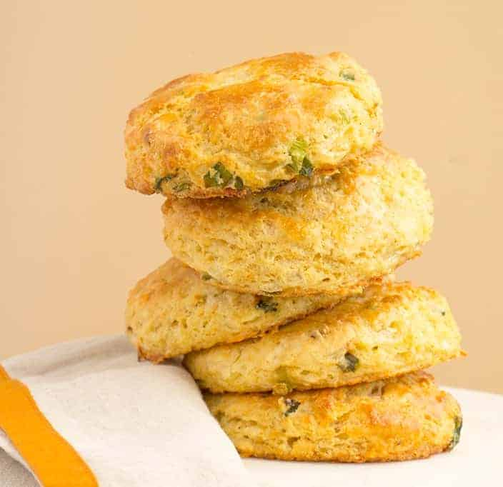 White Cheddar Chipotle Cornmeal Biscuits - i am baker