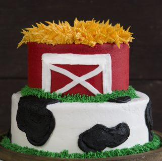 Cow and Barn Cake