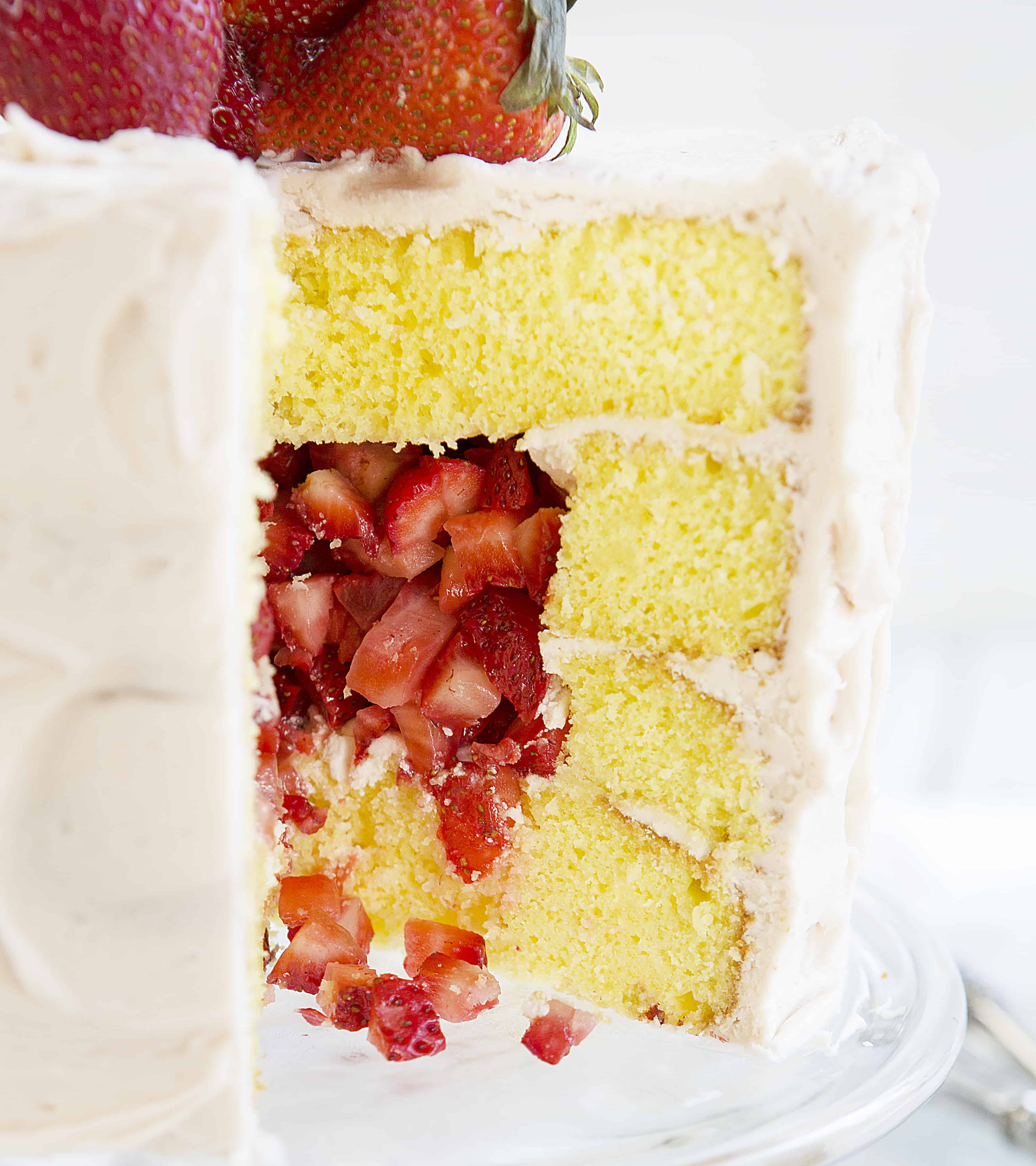 Lemon Cake with a fruity Surprise Inside!