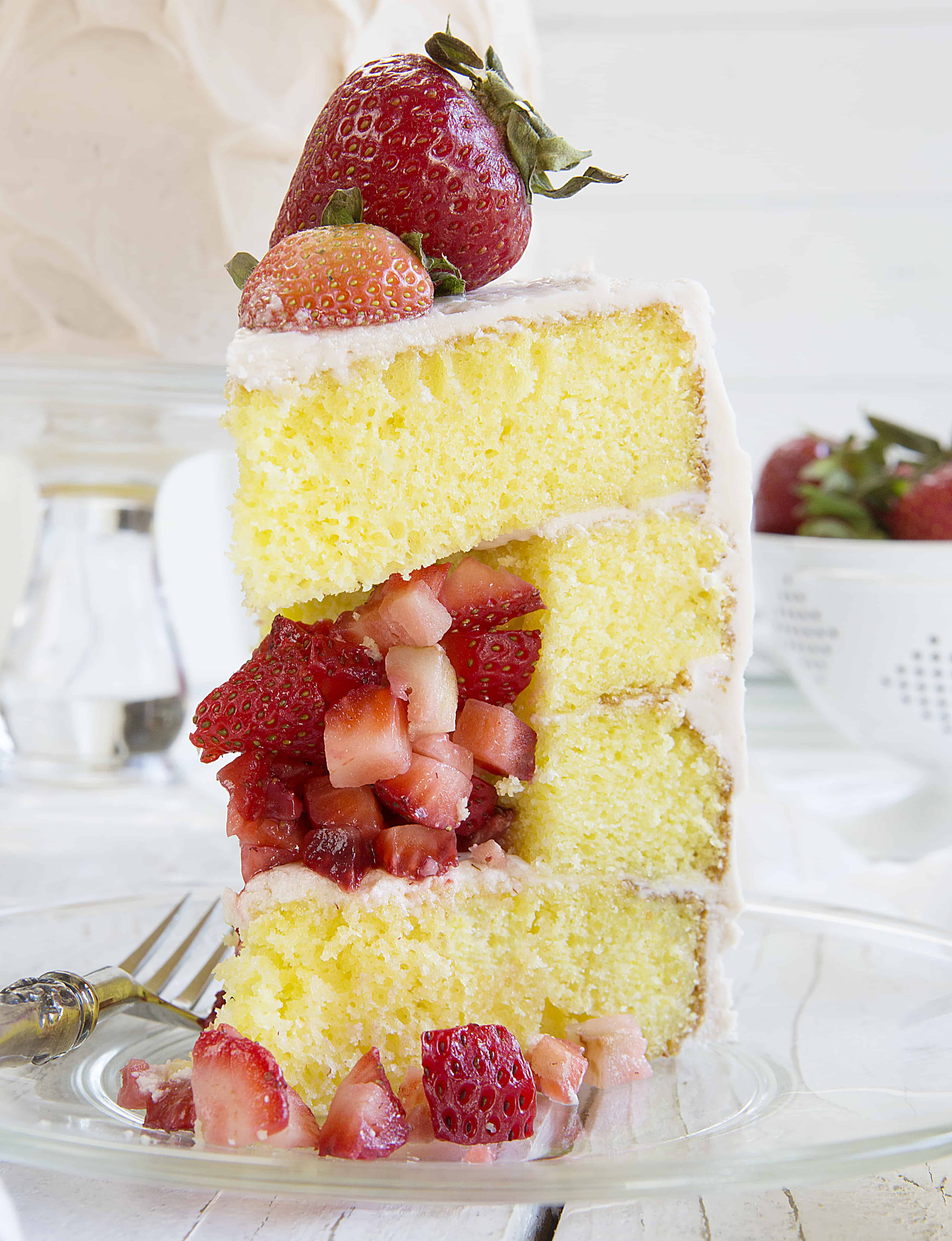 Strawberry Lemon Surprise Cake