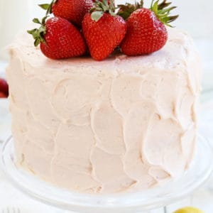 Lemon Cake with Strawberry Buttercream