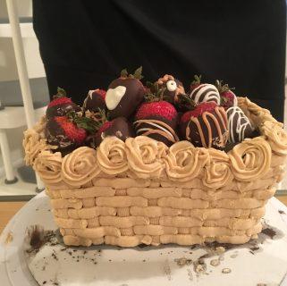 Mocha Basket Cake