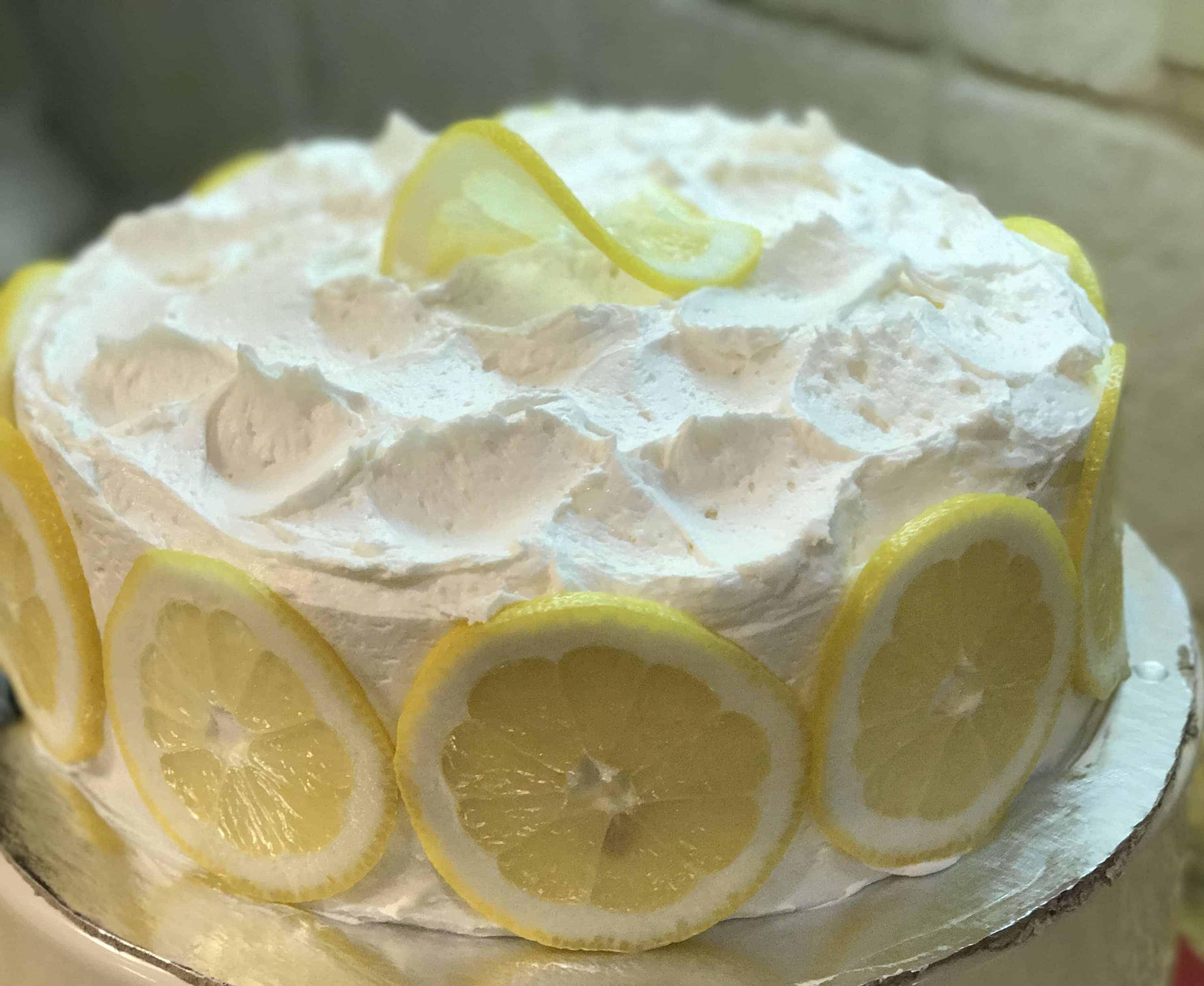 Lemon Chiffon Layer Cake with Lemon Buttercream Frosting - i am baker