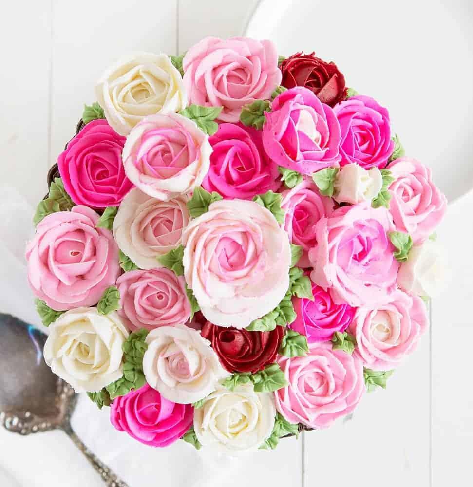 Basket Of Flowers Cake I Am Baker