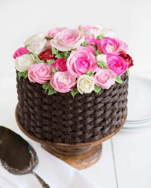 Basket of Flowers Cake | i am baker
