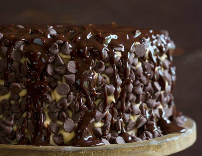 Chocolate Ganache Brownie Cake