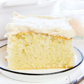 Snack Cake with Salted Caramel Frosting