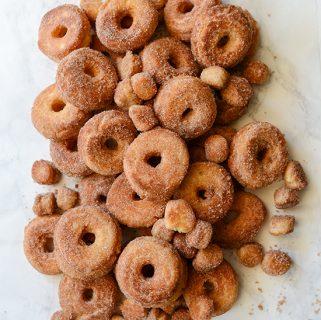 Cake Doughnuts with Cinnamon Sugar