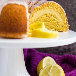 Cheesecake Swirl Lemon Bundt Cake