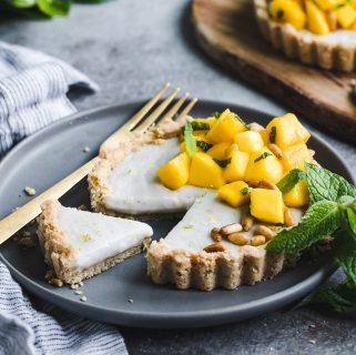 Mint Mango Haupia Tarts