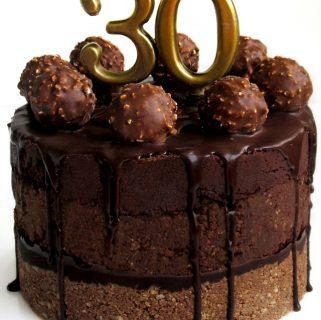 FERRERO ROCHER CHOCOLATE TRUFFLE NO-BAKE CAKE