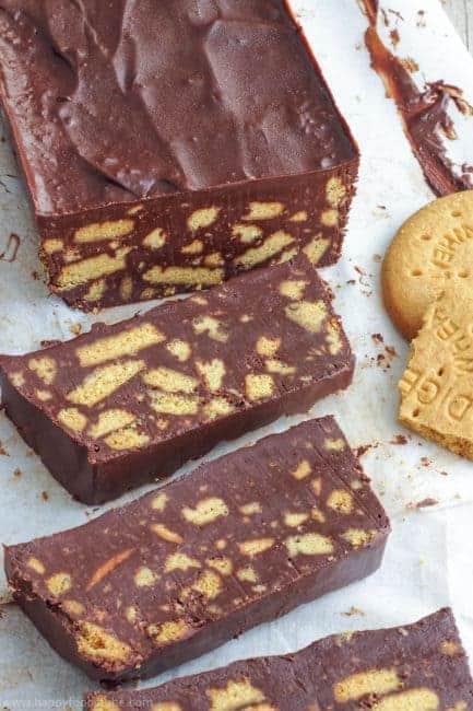 Chocolate Digestive Biscuit Fridge Cake