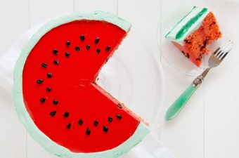 A watermelon cake inside and out!