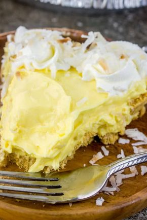Slice of delectable coconut cream pie!