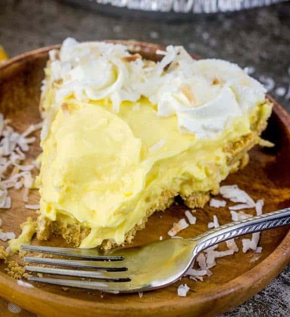 Slice of delectable coconut cream pie!