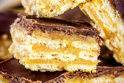 Layers and layers of toffee cracker deliciousness!
