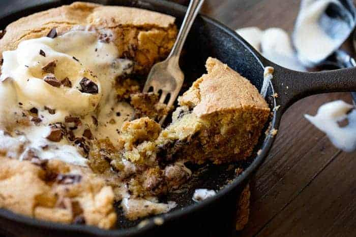 1,000 Layer Skillet Chocolate Chip Cookie - i am baker