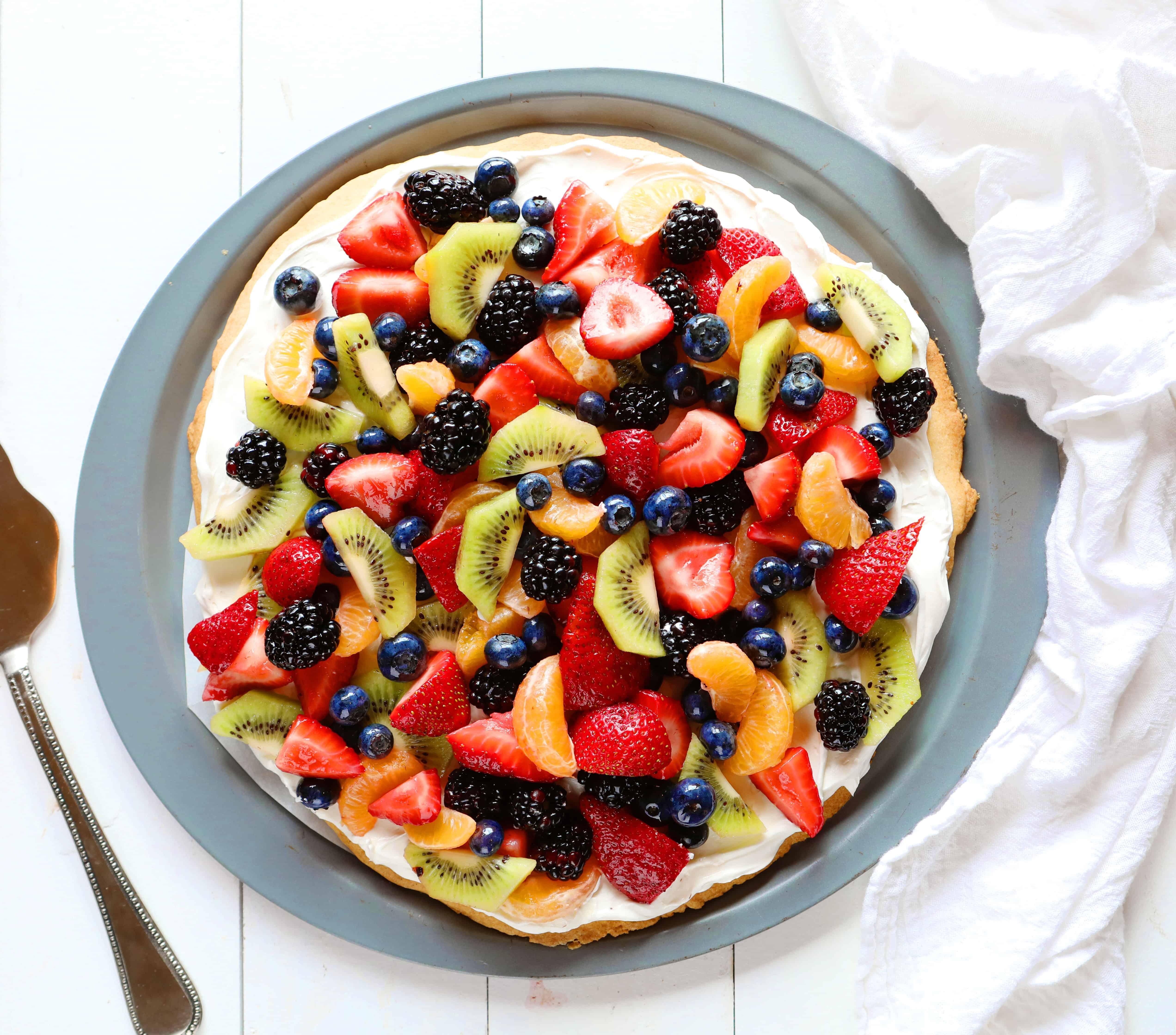 Honey Fruit Pizza