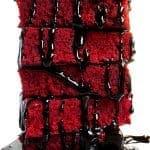 RED VELVET BROWNIES FOR TWO