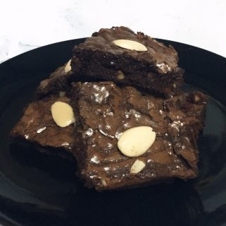 Fudgy Almond Cocoa Brownies